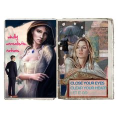 Art Journal Pages # 39 by merimagic on Polyvore featuring art