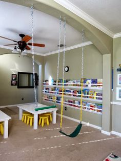 How to Hang Swings Indoors www.stylewithcents.blogspot.com