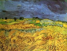 """""""der felder"""", öl auf leinwand von Vincent Van Gogh (1853-1890, Netherlands)"""