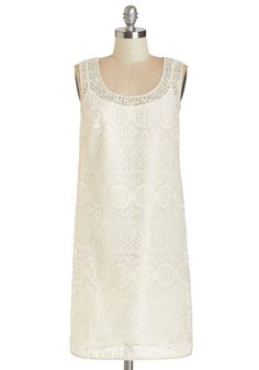 Not a Moment Too Swoon Dress. Celebrate the arrival of sweet summer days with a backyard fiesta - and this dreamy ivory dress! #white #wedding #bride #modcloth $111.99