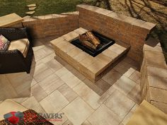 Belgrad Lafitt Grana Slab is comprised of three separate rectangular shapes that together enable a faithful recreation of cut slate. Patio Yard Ideas, Backyard Patio, Backyard Ideas, Outdoor Kitchen Patio, Outdoor Kitchens, Outdoor Decor, Belgard Pavers, Paver Stones, Clean Eating Recipes For Dinner