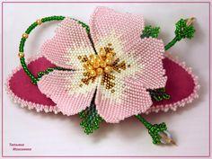 Весенний шиповник | biser.info - всё о бисере и бисерном творчестве