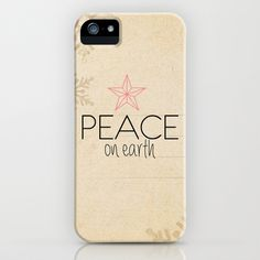 Luke 2:14 - Christmas Range iPhone Case by Pocket Fuel -     Peace on earth