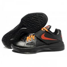 buy online 3aeab 4e664 Elite Nike Zoom Kevin Durant New KD IV Men Black Orange Sports shoes Kevin  Durant Sneakers