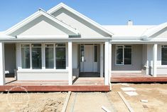 The Dark Roof Grey Weatherboard Amp White Framing Is Great
