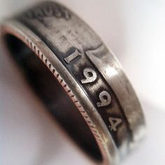 1994 Quarter Ring with Patina 20th Birthday Gift by CoinCollection, $45.00