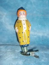 Russian Soviet christmas glass  ornament doll toy Clown