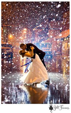 Probably the coolest wedding photo. Glitter confetti toss at the end of your dance!
