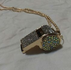 Betsey Johnson rhinestone whistle necklace, found at estate sale   Jewelry & Watches, Fashion Jewelry, Necklaces & Pendants   eBay!