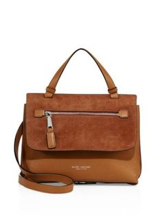 MARC JACOBS Waverly Small Leather & Suede Top-Handle Satchel. #marcjacobs #bags #shoulder bags #hand bags #satchel #suede #