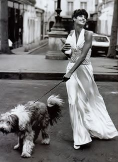 Linda Evangelista styled by Grace Coddington and photographed by Peter Lindbergh for the Paris Revue editorial featured in Vogue US