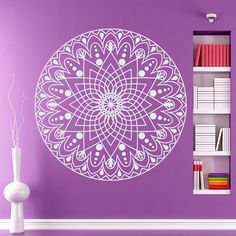 Wall Decals Wall Decals Vinyl Sticker Decal Interior Home Decor Art Mural Mandala Yoga Indian Om Symbol Yin Yang  Bedroom Dorm Studio MM10