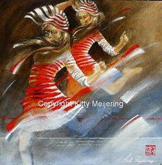 Kitty Meijering - Zebra jurkjes