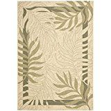 Safavieh Courtyard Collection CY7836-14A5 Cream and Green Indoor/ Outdoor Area Rug (9′ x 12′)   The high-quality polypropylene pile fiber adds durability and longevity to these rugs The power loomed construction adds durability to this rug, ensuring it will be a favorite for a long...