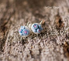 polymer clay roses, polymer clay jewelry, polymer clay earrings https://www.facebook.com/stardustbyoanaconstantin