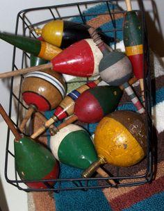 Fishing Tackle - Wood Fishing Bobbers