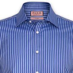 Thomas Pink Men's Stripe Shirt - Double Cuff $185.00