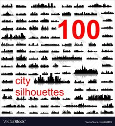 World city silhouettes Vector Image by Sera57