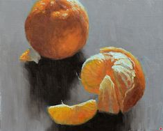 Oranges by Larry DeGraff, Oil, 7 x 9 Fruit Art, Still Life, It Works, The Originals, Larry, Painting, Oil, Painting Art, Paintings