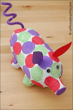 Piggy bank craft on pinterest homemade piggy banks for Plastic bottle piggy bank craft