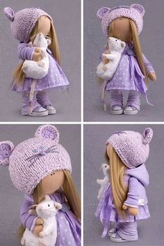Hello, dear visitors!  This is handmade soft doll created by Master Alena Raduga (Moscow, Russia). Doll is 30 cm (11.8 inch) tall.  Dolls and
