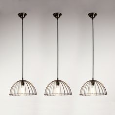 Awesome industrial wire basket pendant lights