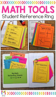 Math Tools Resource Ring These math toolkits are perfect for upper elementary students. Students will love how easy it is to refer to problem solving strategies, math vocabulary, and formulas when they are working independently. Math Strategies, Math Resources, Elementary Math, Upper Elementary, Einstein, Math Vocabulary, Maths, Math Math, Math Teacher