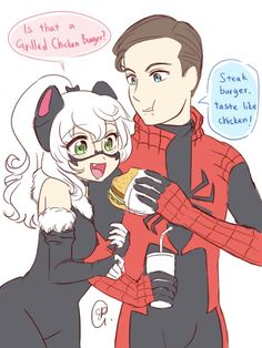 Spiderman and black cat: perfect couple Spiderman Black Cat, Spiderman Girl, Spiderman Kunst, Black Cat Marvel, Disney Marvel, Marvel Vs, Marvel Dc Comics, Marvel Funny, Marvel Memes