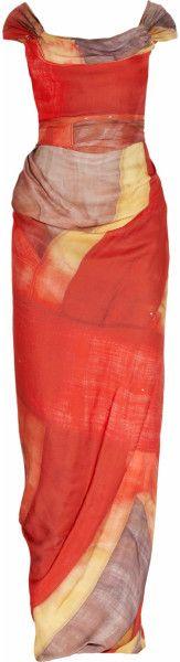 Love this: Union Jackprint Silkgeorgette Gown VIVIENNE WESTWOOD