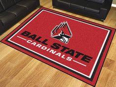 Area Rug - 8x10 - Ball State University Cardinals