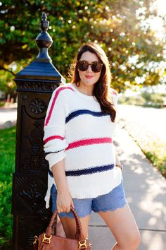 Striped sweater for