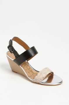 Sam Edelman Sutton Sandal available at #Nordstrom - love the two-tone wedge