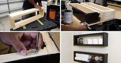 Here's a DIY video that shows you how to create an inexpensive floating shelf with basic materials found at your local hardware store.