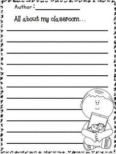 Monthly Writing Templates Fall K2 Reading Writing Ideas
