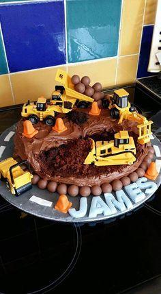 3rd birthday digger cake