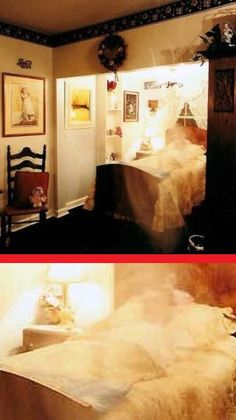 This photo taken at Georgia's Historic Worley B Inn shows what appears to be a man resting on a bed. However, he wasn't there when the photo was taken. According to L.E.M.U.R. Paranormal Investigations, the ghost might belong to a teen who died in the home in the late 1800s.