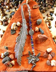 Amethyst Fairy Bookmark  Fairy Bookmark Amethyst by StarshineBeads