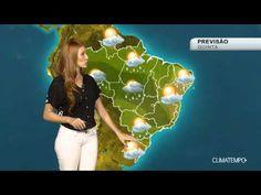 Previsão Brasil - Risco de chuva forte entre o SE e o NO