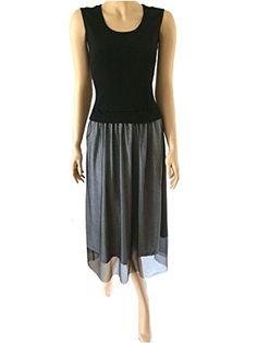 Black Retro Midi Sheer Evening Day Swing Sleeveless Designer Dress (6) Steampunk Goths http://www.amazon.co.uk/dp/B00QGVV9S4/ref=cm_sw_r_pi_dp_zjzAvb161GWMW