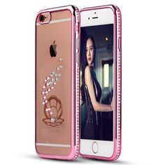 Glitter Silicone Case For iPhone 5 5S SE Coque Luxury Diamond Bling Rhinestone Style