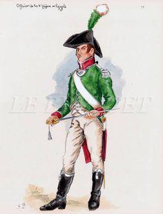 ufficiale della 4 mezza brigata di fanteria leggera francese in Egitto