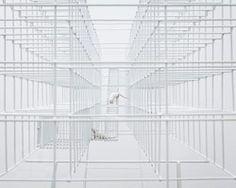 BUREAU A's cage sculpture of swiss prison