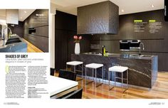 Kitchens Bathrooms Quarterly 19.3 Shades Of Grey, Bathrooms, Kitchens, Cool Stuff, Elegant, Stylish, Table, Furniture, Home Decor