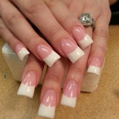 Pink and white..permanent French
