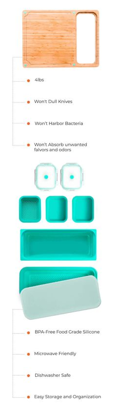 Cutting Board Meal Prep Solution Great For Small Spaces – TidyBoard Easy Meal Prep, Quick Easy Meals, Cooking Tools, Working Area, Food Preparation, T 4, Clean Up, Safe Food, Food To Make