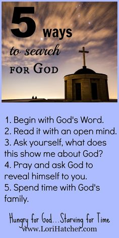 Hungry for God: 5 Ways to Search for God