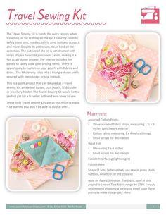 Travel Sewing Kit PDF Sewing Pattern | Etsy
