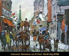 Serge Brunoni original acrylic painting on canvas new BOOK available october Old Montreal, October 19, Canadian Artists, Acrylic Painting Canvas, Winter Scenes, Figurative Art, New Books, Original Paintings, Fine Art