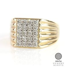 #Diamond signet #ring