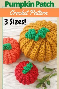Crochet Pumpkin Pattern, Crochet Blanket Patterns, Pumpkin Patterns, Beginner Crochet, Crochet Patterns For Beginners, Free Crochet, Crochet Fall, Halloween Crochet, Easy Crochet Projects